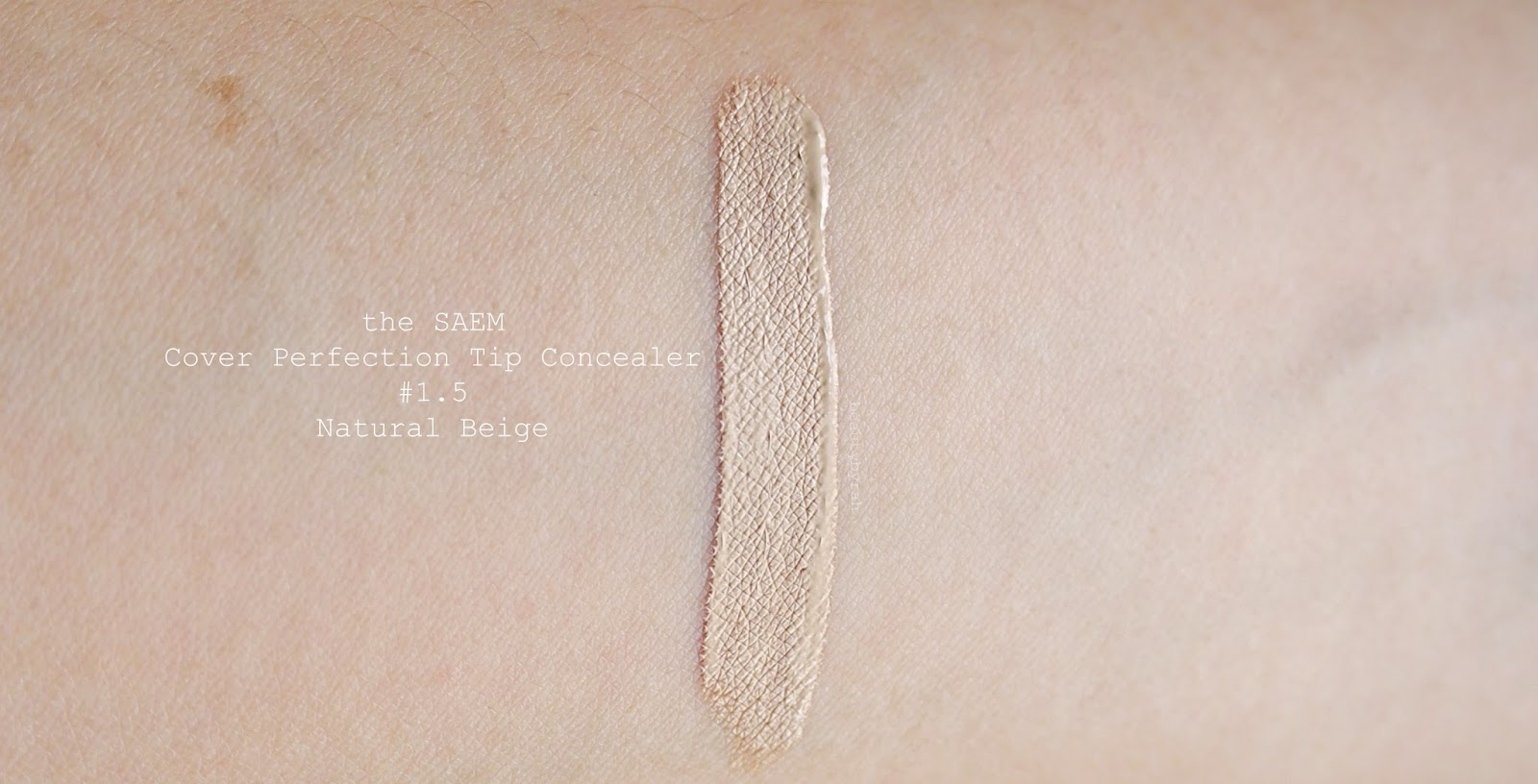 the SAEM Cover Perfection Tip Concealer in 1.5 review