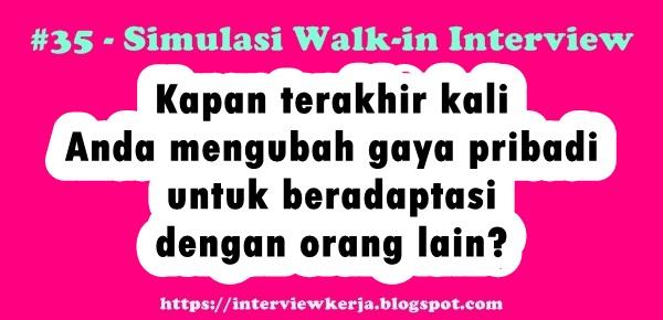 35 tes wawancara lowongan kerja walk interview