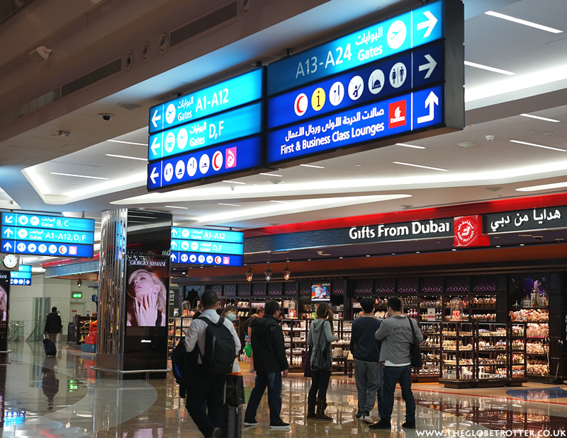 Duty free shopping at Dubai Airport