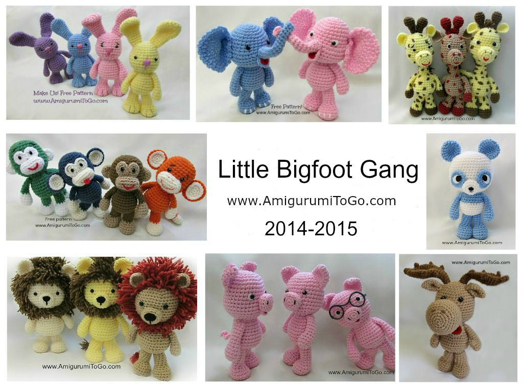 Little Bigfoot Moose ~ Amigurumi To Go