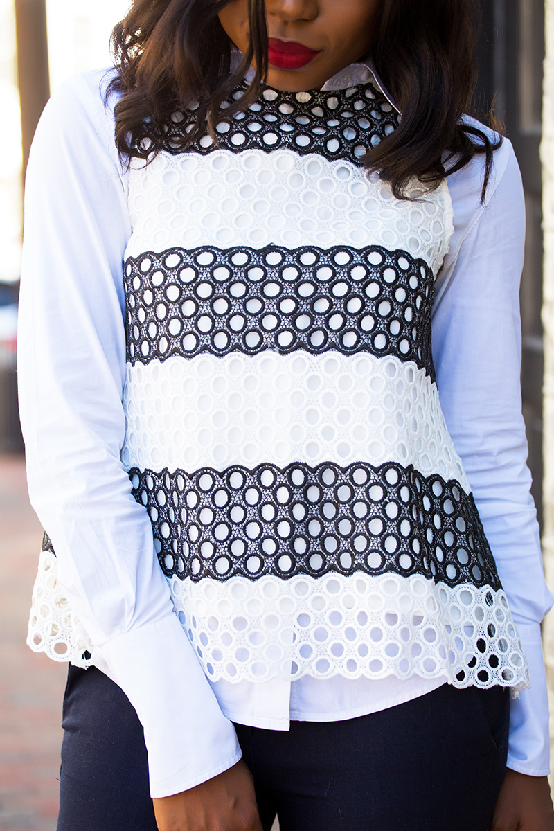 Fall work style, anthropologie top, jadore-fashion.com