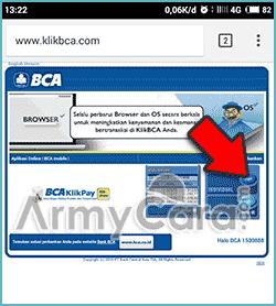 Internet banking BCA cek saldo