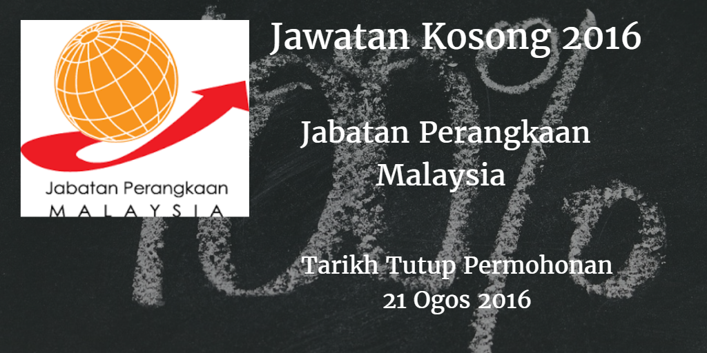 Jawatan Kosong Jabatan Perangkaan Malaysia 21 Ogos 2016
