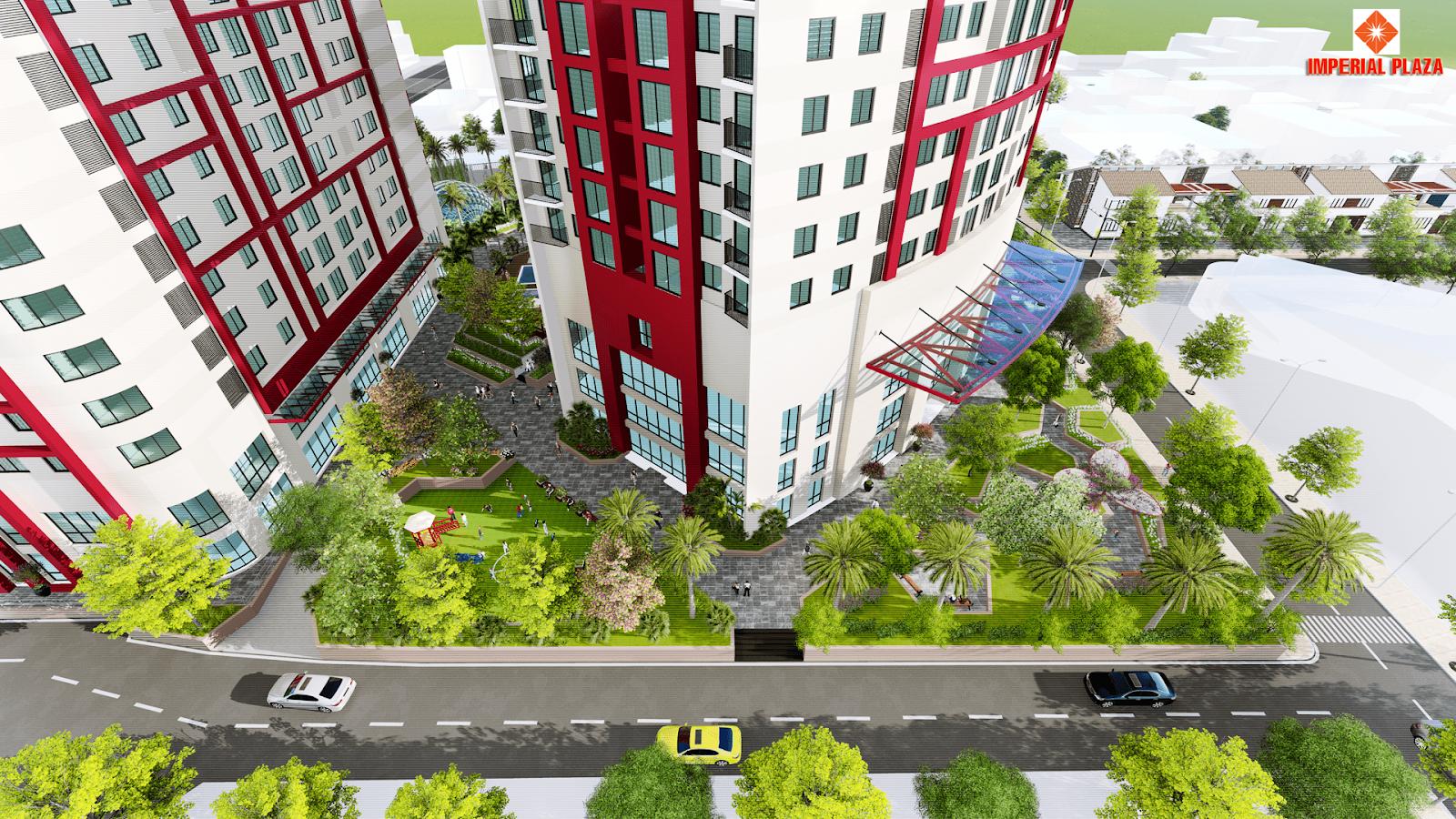 Quy mô công trình chung cư Imperial Plaza Giải Phóng