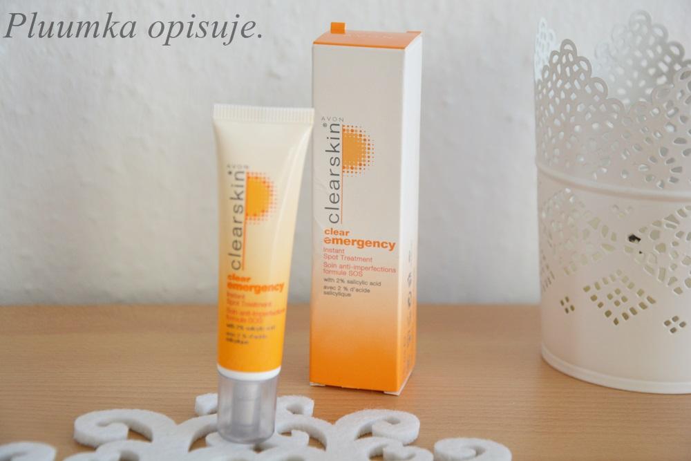 Avon Clearskin, Clear Emergency, instant spot treatment -punktowy preparat na pryszcze o natychmiastowym dzialaniu z 2% kwasem salicylowym.