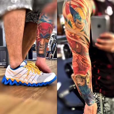 Tatuaje de Marvel manga completa