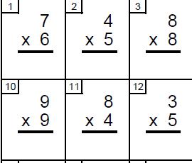 Exercícios de Multiplicação