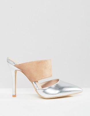 Zapatos de Fiesta de moda Plateados