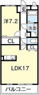 徳島市 二軒屋 オートロック 1LDK
