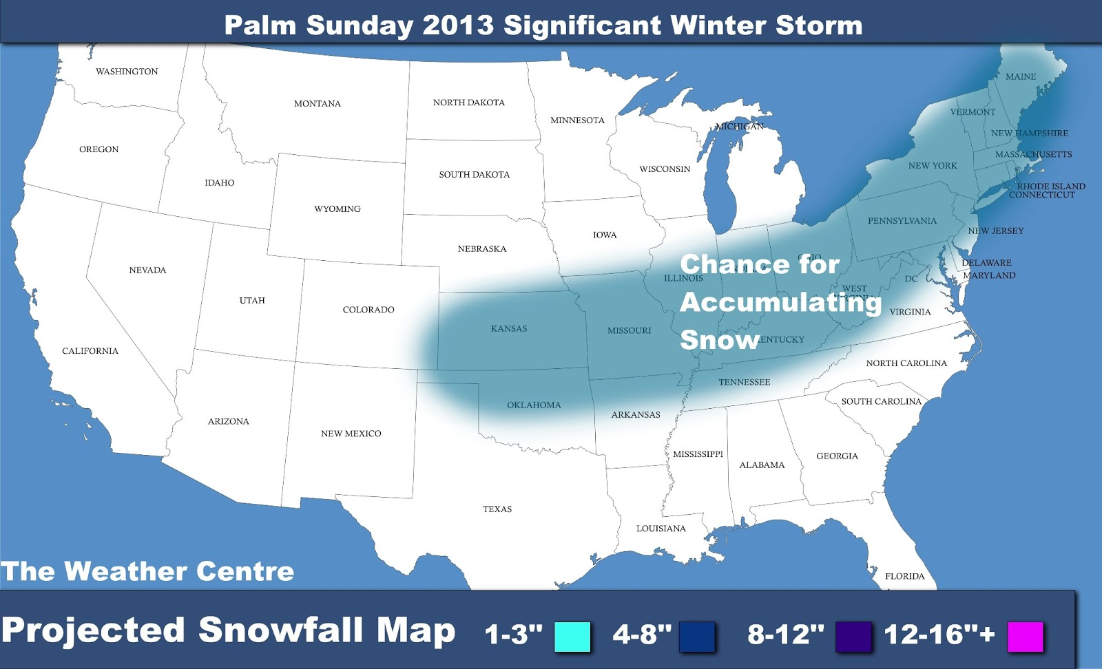 The Weather Centre: Palm Sunday 2013 Significant Winter ... - photo#14