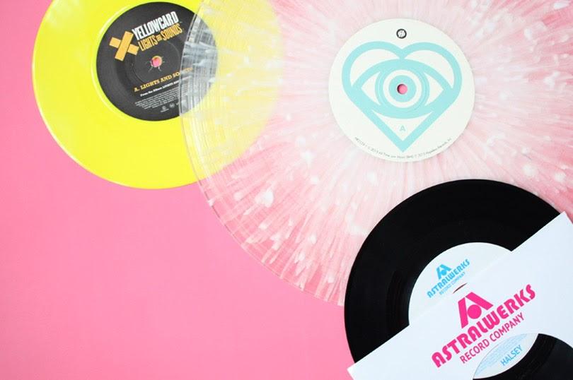 music vinyl flatlay
