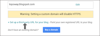 set up third-party URL to your blog
