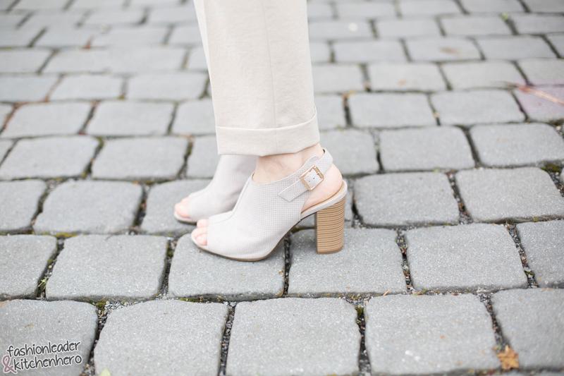 Carmenbluse, Bundfaltenhose, Mode, Fashion, Look, Schmuck, Schuhe