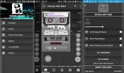 BBM Mod WM V3.0.0 Base BBM 3.2.5.12 Apk