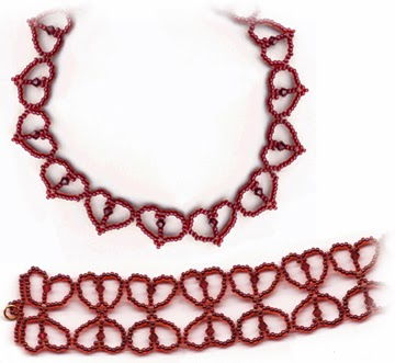 Free bead patterns and ideas simple hearts necklace and for Simple beaded jewelry patterns