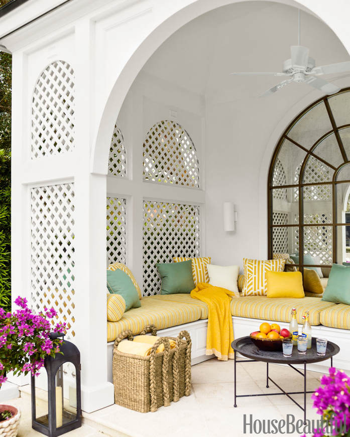 Pop of Yellow in Outdoor Space