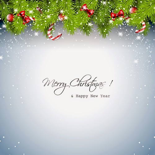 vector-graphics-design-template-for-merry-Christmas-and-happy-new-year-wishes-greeting-card-white-background-top-garland-snow-flakes