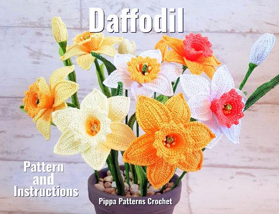 daffodil flower crochet pattern