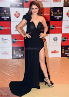 Monica Bedi in a Deep nbeck Leg Split Black Designer Gown Walk the Red Carpet of Zee Awards 2017i ~  Exclusive Galleries 029.jpg