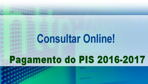 Consultar Pagamento do PIS 2016-2017