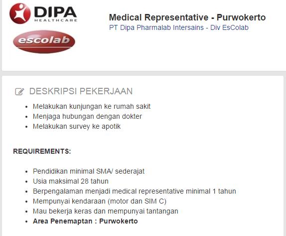 PT Dipa Pharmalab Intersains Purwokerto | Loker Satria