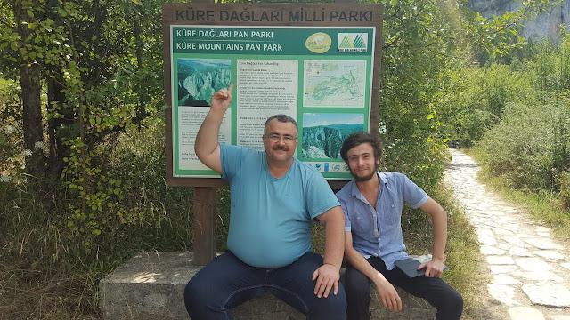 Harun İstenci ve Ömer Demir SMMM Kastamonu'da Küre Dağları Milli Parkında.