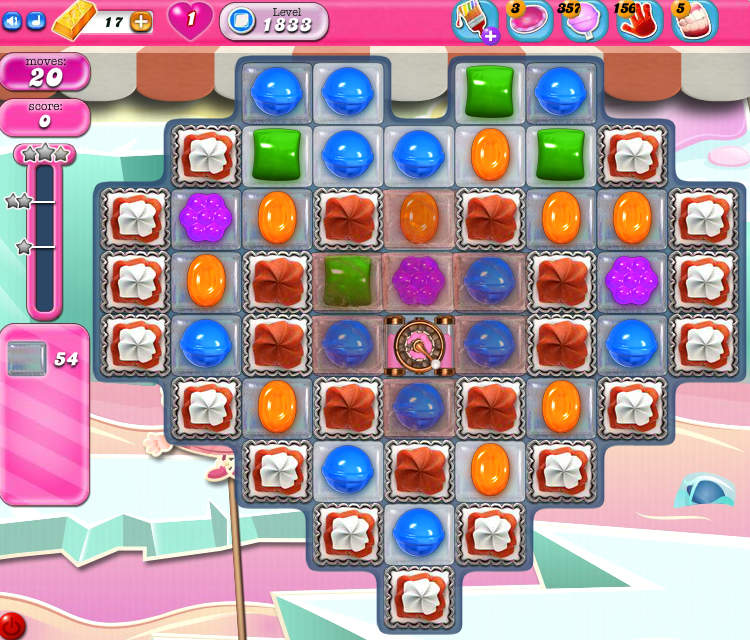 Candy Crush Saga 1833
