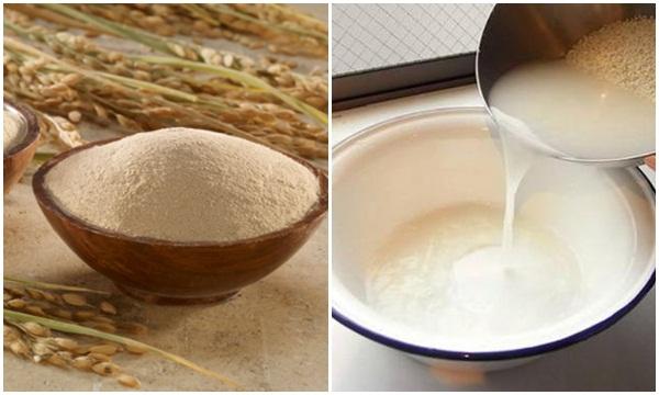 Cách làm trắng da bằng nước vo gạo với cám gạo