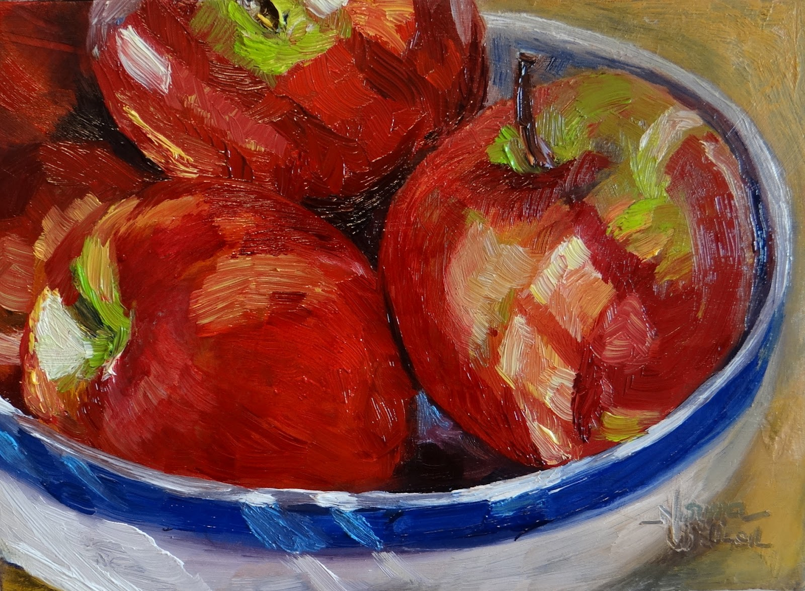 Norma Wilson Art: Apple Still Life Food Art Fruit Painting