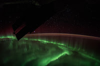 Aurora over Indian Ocean seen from the International Space Station