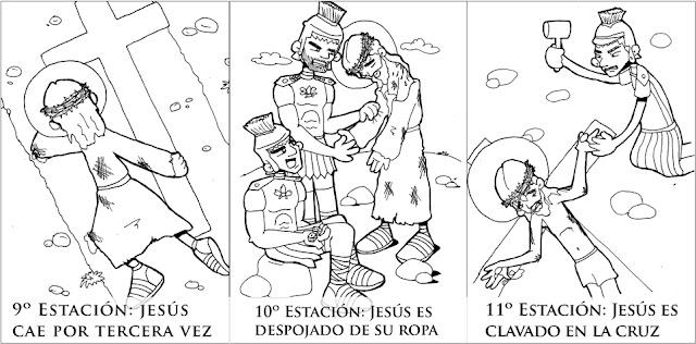 La Catequesis El Blog De Sandra Vía Crucis Para Colorear
