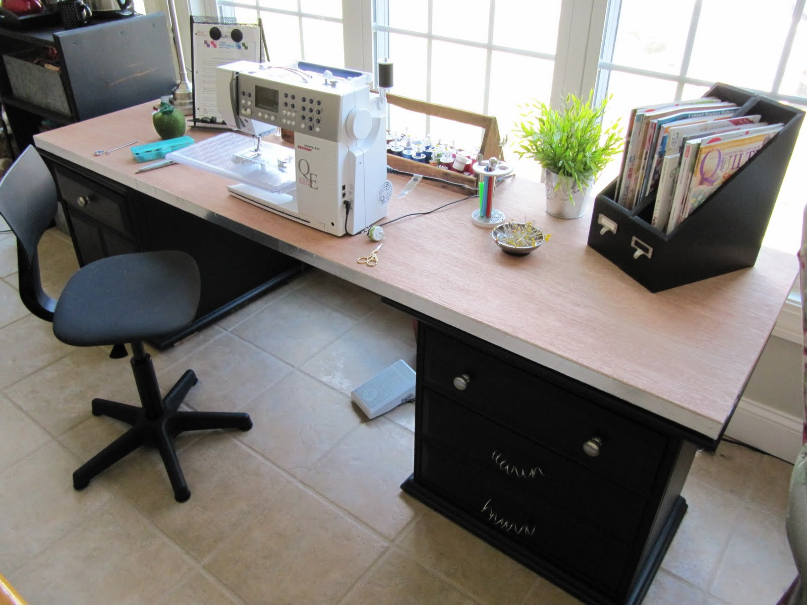 Craft Room Desk: Sew Many Ways...: Sewing/Craft Room Ideas And Updates