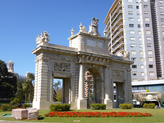 Porta de la Mar in Valencia, Spain