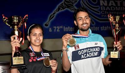 सौरभ वर्मा और रितुपर्णा दास ने 2017 राष्ट्रीय सीनियर बैडमिंटन चैंपियनशिप जीती