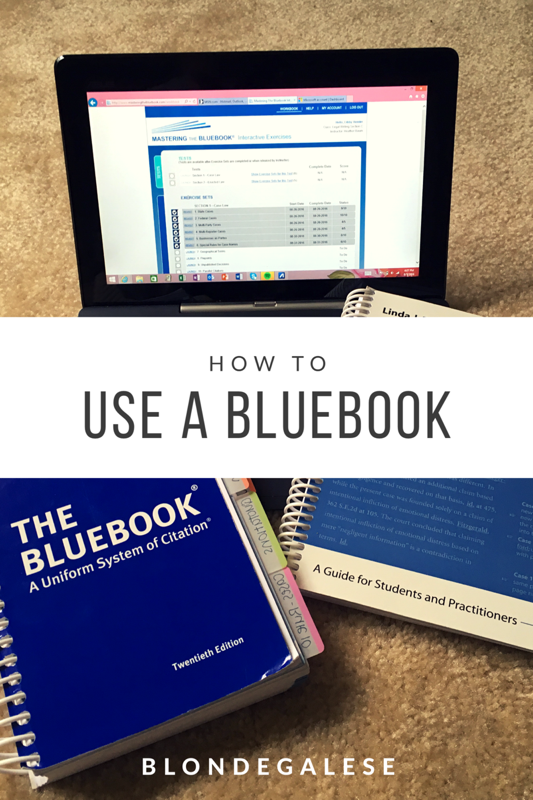 Blondegalese how to bluebook last week ccuart Image collections