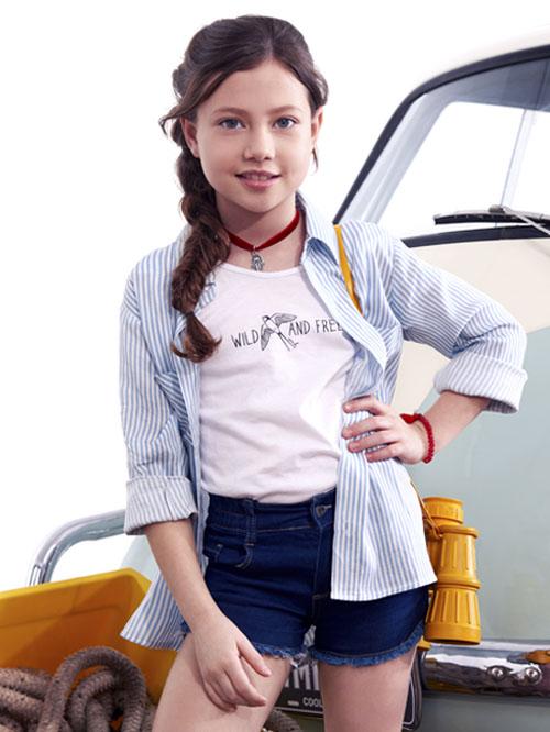 Camisas para nenas verano 2018. Moda 2018 ropa de niñas camisas, remeras y shorts.