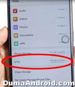 OTG Flashdisk terdeteksi di HP A3S OPPO