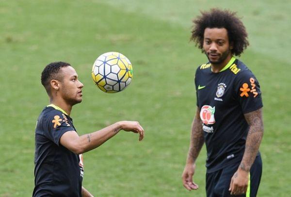Marcelo and Neymar