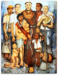 Pintura na Igreja do Convento São Boaventura, Imigrante (RS)