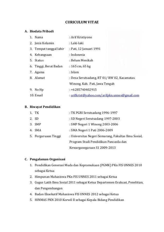 Mhd Iqbal Bahasa Indonesia 2 Cv Curriculum Vitae