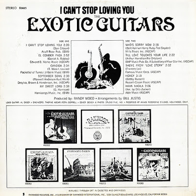 The Exotic Guitars - I Can't Stop Loving You (1970)