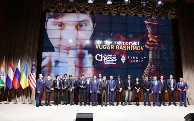 Ceremonia de inaguración de Shamkir Chess 2016