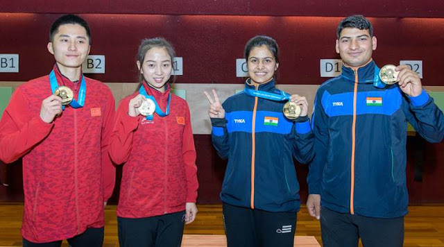 India's gold rush continues as Manu Bhaker, Om Prakash Mitharval finish first in 10m Air Pistol mixed team final