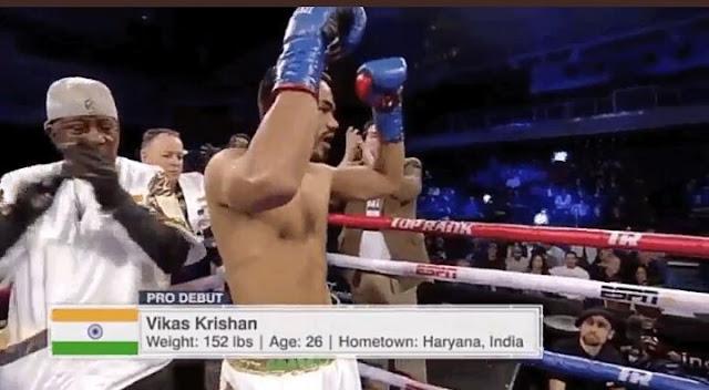 Vikas Krishan defs. Steven Andrade Via TKO2 , junior middleweights