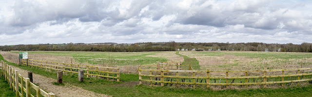 Views over Stanton Low Park and Linford Lakes Nature Reserve