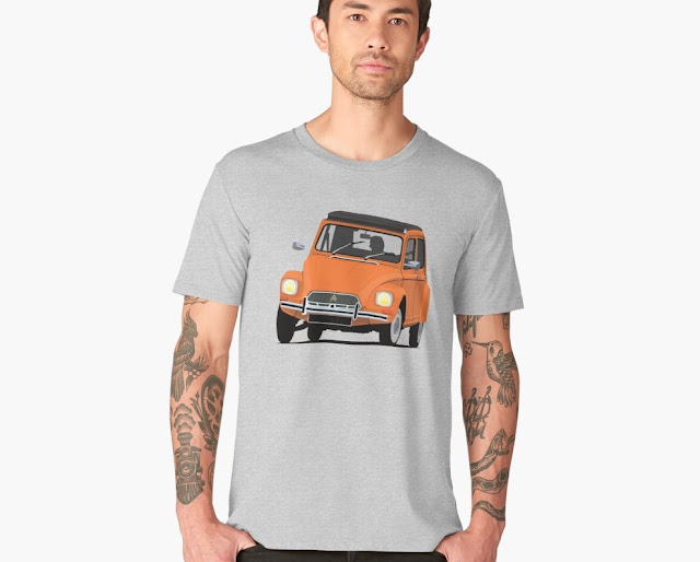 Classic Citroën Dyane T-shirt - orange