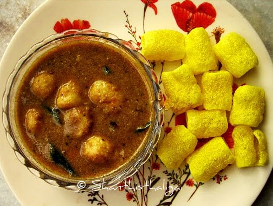 How to make kerala style chembu theeyal? How to make traditional chembu theeyal?