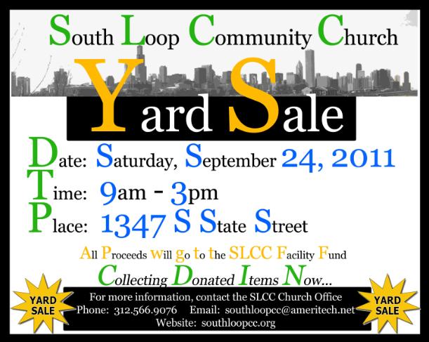South Loop Connection: Yard Sale at South Loop Community