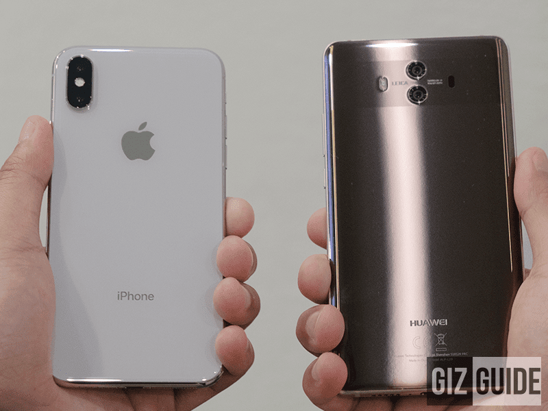 Apple iPhone X vs Huawei Mate 10 - Point and Shoot Main Camera Comparison