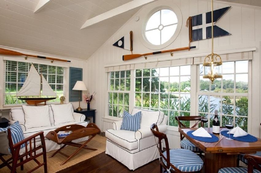 Decorative Wooden Oars Interior Design Nautical